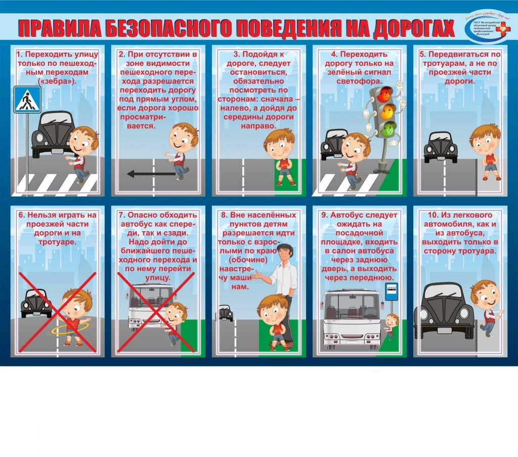 Плакат-Правила-безопасного-поведения-на-дорогах